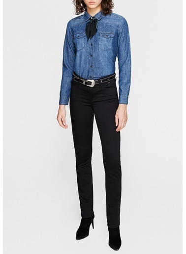 Mavi Jean Pantolon | Mona - Regular Siyah